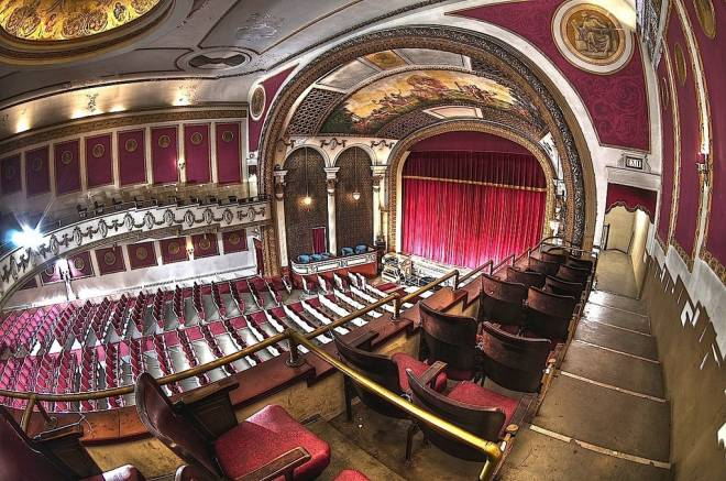 The mezzanine view of the Columbus Theatre