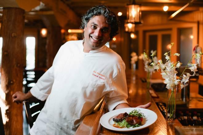Chef Sai Viswanath of DeWolf Tavern in Bristol
