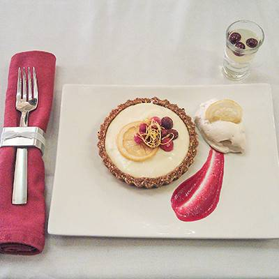 Mary Jo Fletcher LaRocco's prize-winning Cranberry Limoncello Tart in a Gingersnap Hazelnut Crust