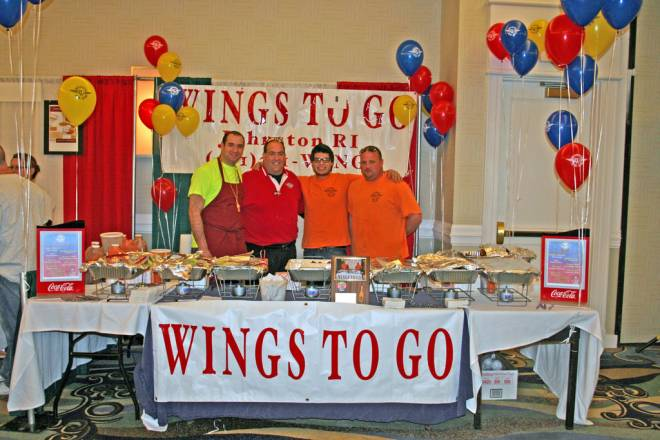 The chicken wing cook-off at the Newport Winter Festival