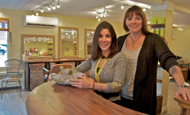 Nanci Adams and Cheryl Bayuk own Pure Salon in Bristol