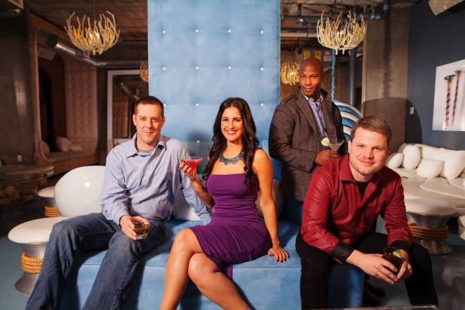 Providence's most eligible singles: (L-R) Scott Grace, Jay Davani, Shawn Simmons, Jason Sweet