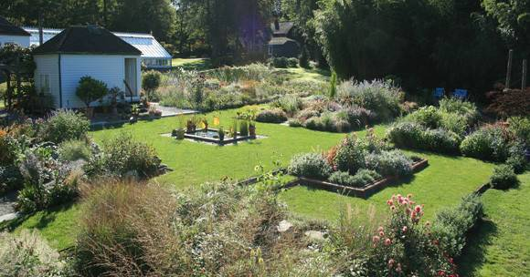 The gardens at Blithewold, as seen in the warmer months