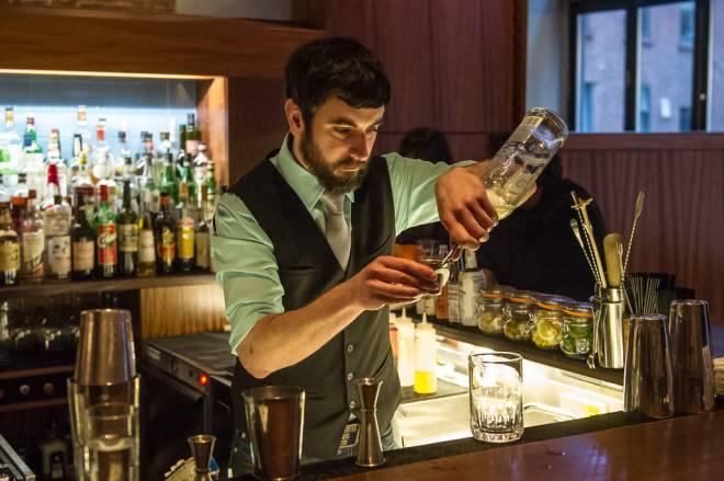 Jay Carr behind the bar at The Eddy