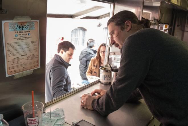 Peter Gobin in the Mijos truck