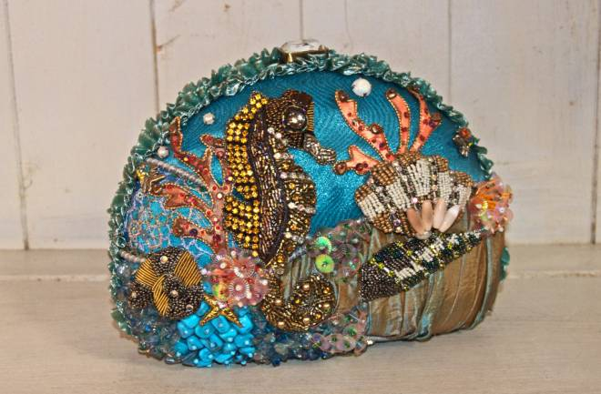 Saddle up with this exclusive seahorse clutch