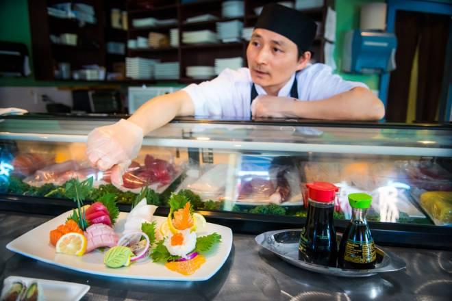 Cardin Lau creates one-of-a-kind sushi works of art at Haruki