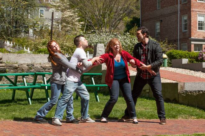 A Midsummer Night's Dream  cast rehearses in the park