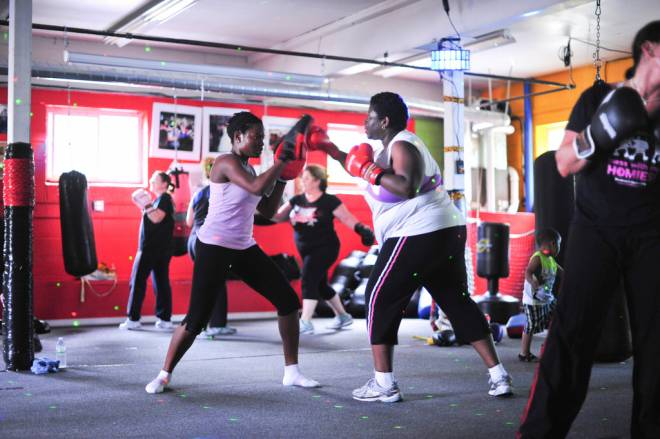 Defending yourself is fun at Rondeau's Kickboxing