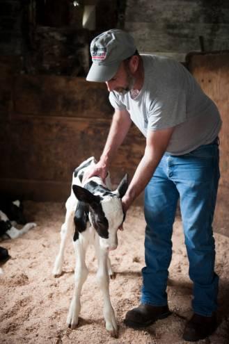 Shy Brother Karl Santos on the farm