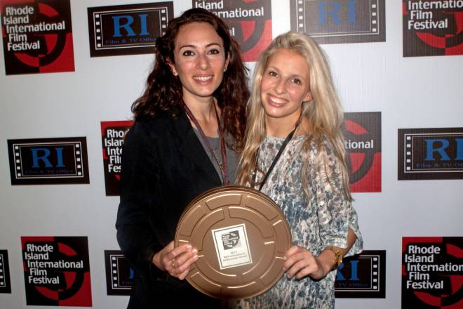 Directors Marla Altschuler (left) and Tamarin Kaplan  (right) won the 2012 RIIFF International Ambassador  Award for their film The White Picket Fence Project