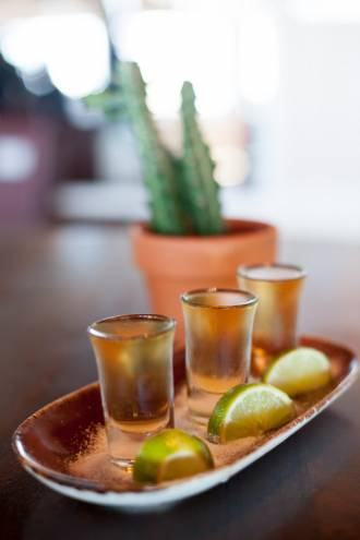 Tequila flights at Agave in Bristol