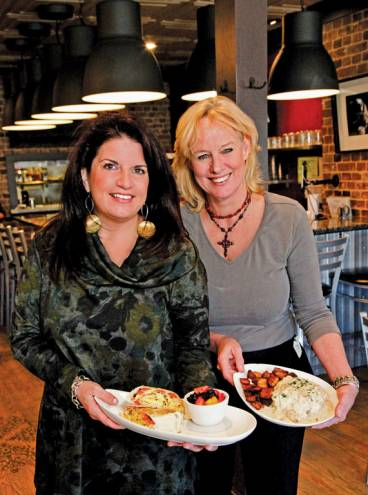 Lisa Altieri (left) recently opened Dante's Kitchen in East Greenwich in the spot formerly occupied by Audra's Cafe. (Right: Audra Willis)