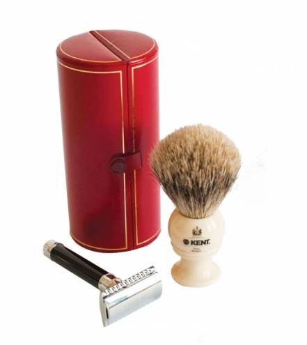 Shaving SetKent shaving brush, $110;Edwin Jagger double edge safety razor, $35; both at Chez Moustache Chez Moustache A gentlemen's barber shop offering precision haircuts, hot shaves and fine men's grooming products. Gift certificates are available for services or products.91 Hope St., Providence. 400-5500.