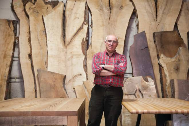 David Ellison makes beautiful furniture from reclaimed wood