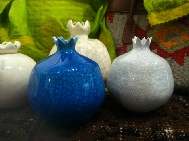 Gift: Ceramic Pomegranates from IstanbulWhere to find it:  Silk Road Traders @ Gallery 4. 3848 Main Rd., Tiverton