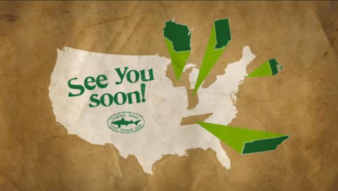 Delaware brewery Dogfish Head announces its return to the RI market in a YouTube video