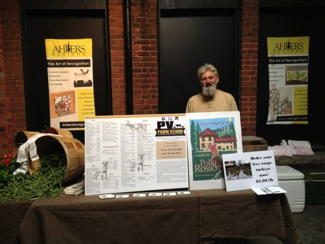 Frank Martinelli from PV Farm Stand is one of the vendors in the expanded Wintertime Farmer's Market