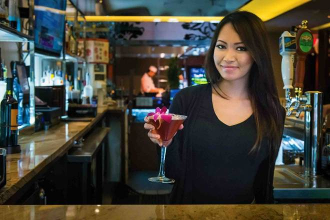 Emily Phrasikaysone is shaking up cocktails at Nami on Federal Hill