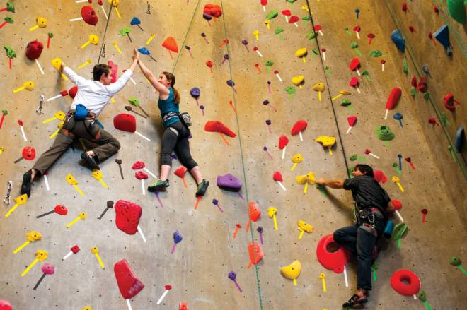 Push your mind and your body at Rock Spot indoor climbing in Peace Dale