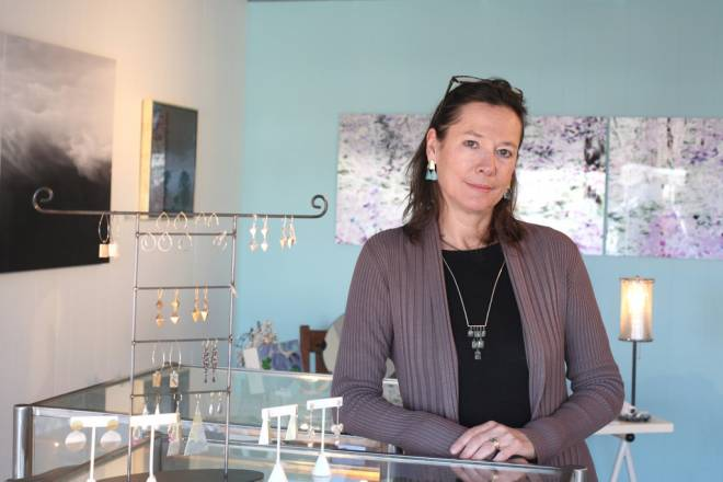 Didi Suydam shares gallery space with her husband, sculptor Peter Diepenbrock