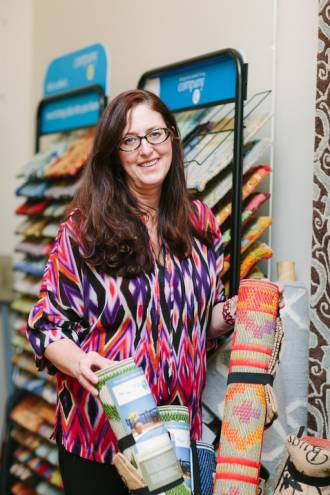 Carla Davis encourages the use of bold patterns in her Wakefield rug gallery
