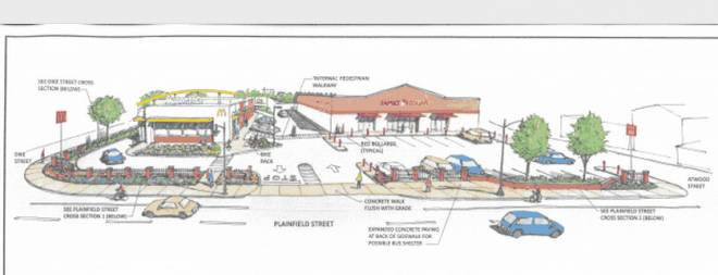The proposed redevelopment of 48 Plainfield Street in Olneyville will go before the City Planning Commission on Tuesday, January 28