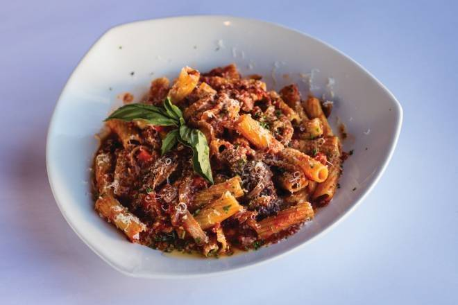Braised Beef and Pork Rigatoni from Chardonnay's