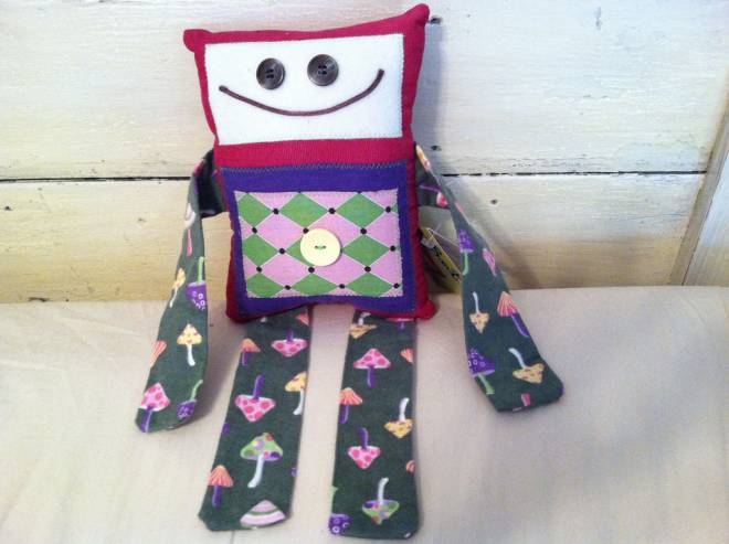 Sarah Edmond's Grinchy Bots are part of the eclectic selection at Craftopia on April 27