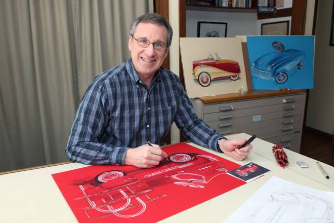 Guy Cassaday is passionate about his automotive art