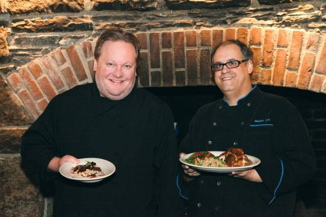 Co-executive chefs Glenn Toalson and Steve Lima at the Carriage Inn and Saloon