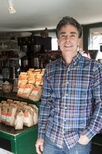 Dave's Coffee owner David Lanning has grown his small coffee shop in Charlestown to a nationally recognized brand