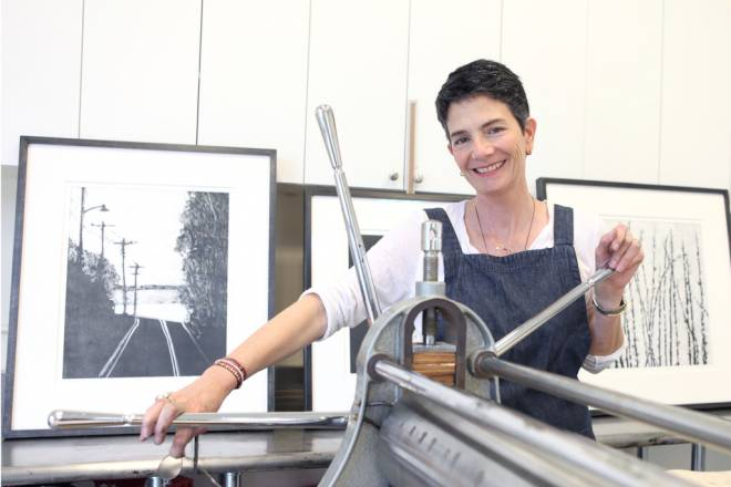 Lisa Barsumian creates art with her 40-year-old Dutch printing press