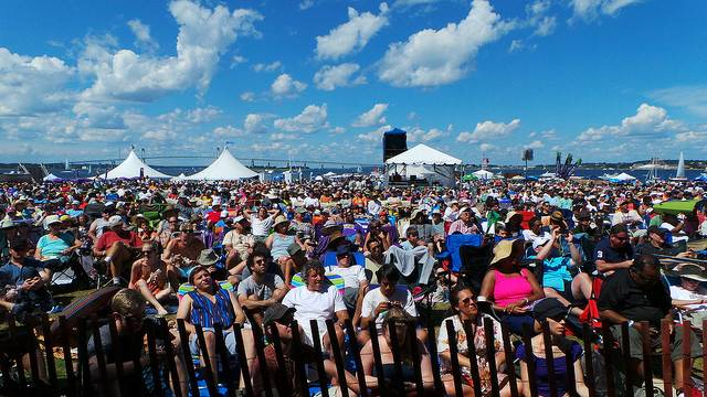 Crowd at the Newport Jazz Festival