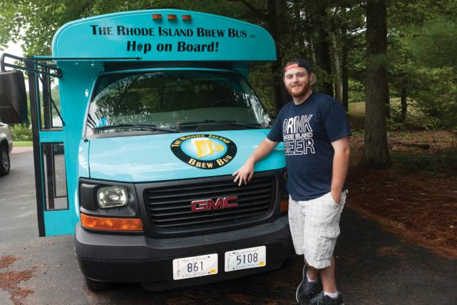 Bill Nangle and his Rhode Island Brew Bus