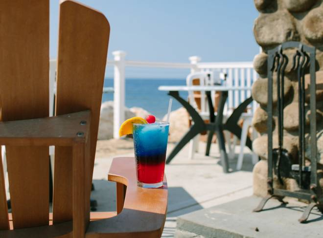 Grab a drink beachside at Andrea's