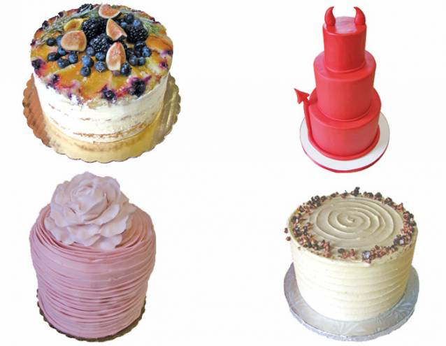 Clockwise from top: Ellie's Bakery, Sin, Sweet Indulgence, North Bakery