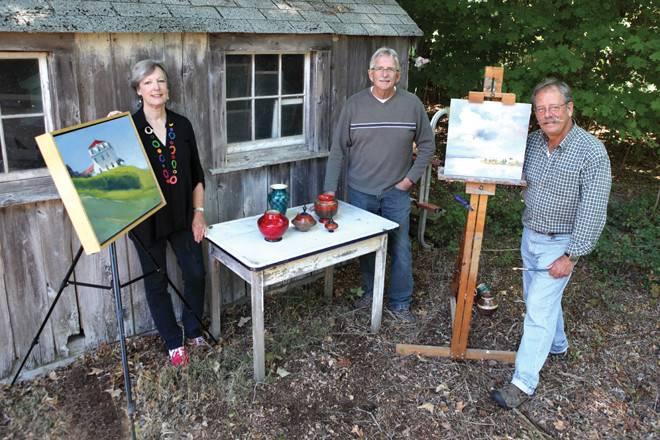 Artists Marjorie Ball, Mark Knapp and Donato Beauchaine