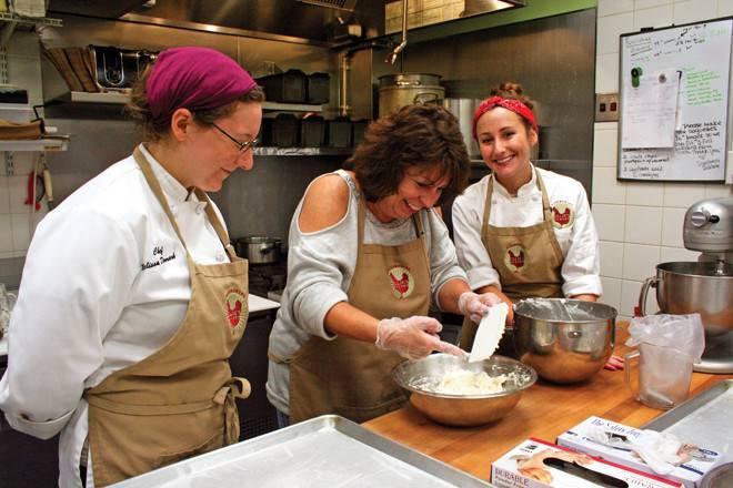Ellie's Bakery Pastry chefs Melissa Denmark and Allison Hertz