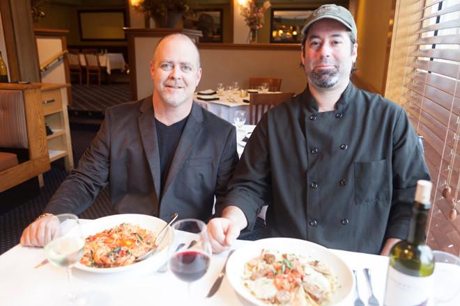 Greg Pelleccione and Head Chef Geof Williams of 300 North