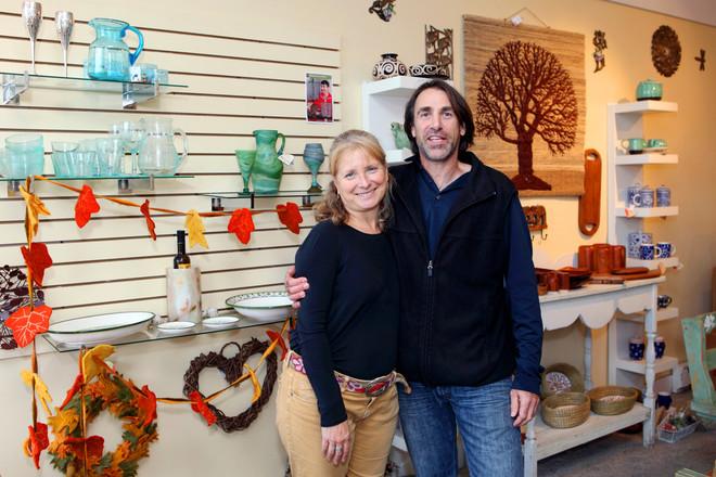 Lois and Paul Culler sell fair trade goods