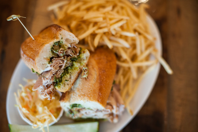 Porchetta Sandwich at Clean Plate