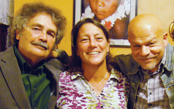 RI Poet Laureats Tom Chandler, Lisa Starr and Rick Benjamin
