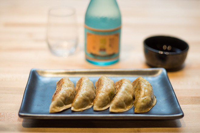 Gyoza made with pork from Pat's Pastured.