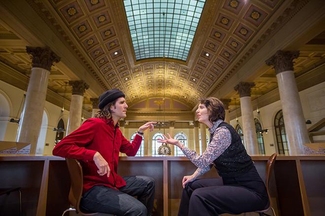 Jed Hancock-Brainerd and Rebecca Noon make up half of Strange Attractor Theatre Company.