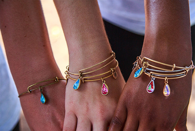 Proceeds from these Alex and Ani bangles benefit Living Water International