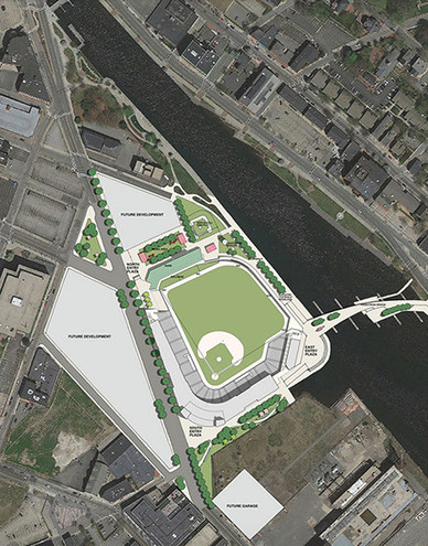 Proposed site for the new Paw Sox stadium in Providence.