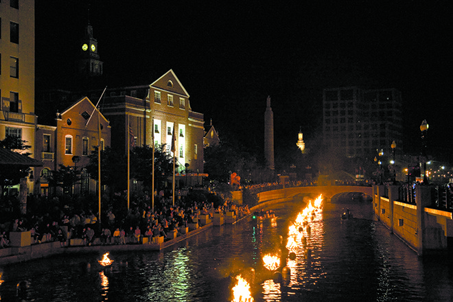 The first full-lighting of the WaterFire season happens this Saturday.