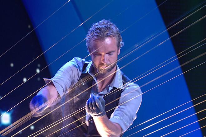 William Close and his Earth Harp