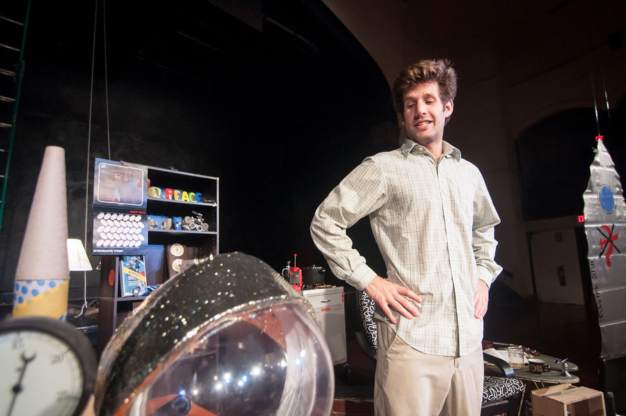 Stuart Wilson in his show It's a Spaceship Now, appearing as part of the Providence Fringe Festival, FRINGEPVD.